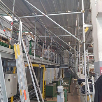 Allroundgerüst als Flächengerüst im Industriebereich