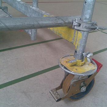 Fahrgerüstrollen für Parkett und Sporthallen - Vulkollan beschichtet